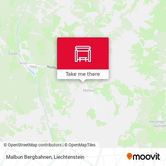Malbun Bergbahnen map