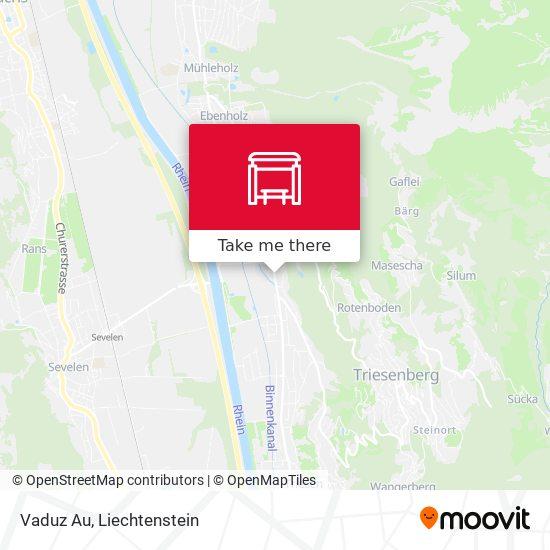 Vaduz Au map