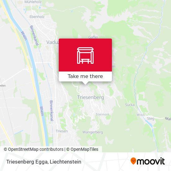Triesenberg Egga map