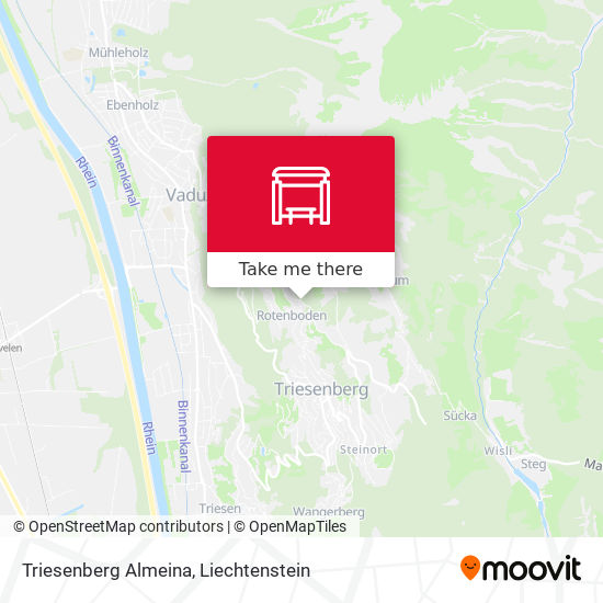 Triesenberg Almeina map
