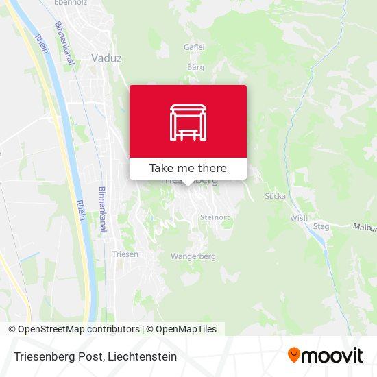 Triesenberg Post map