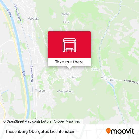 Triesenberg Obergufer map