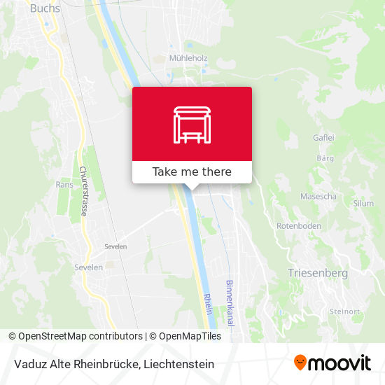 Vaduz Alte Rheinbrücke map