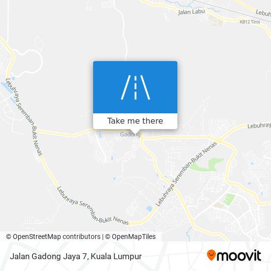 Jalan Gadong Jaya 7地图