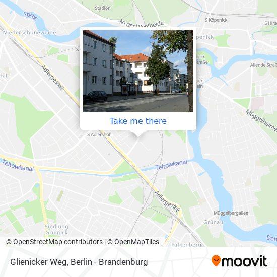 Glienicker Weg map