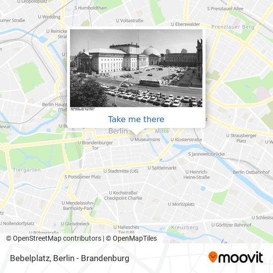 Bebelplatz map