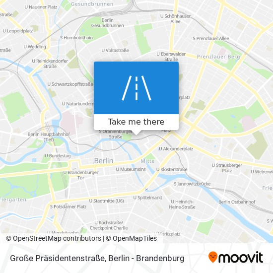 Große Präsidentenstraße map