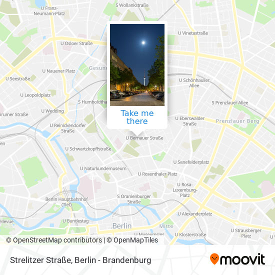 Strelitzer Straße map