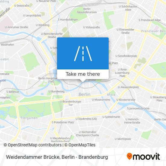 Weidendammer Brücke map