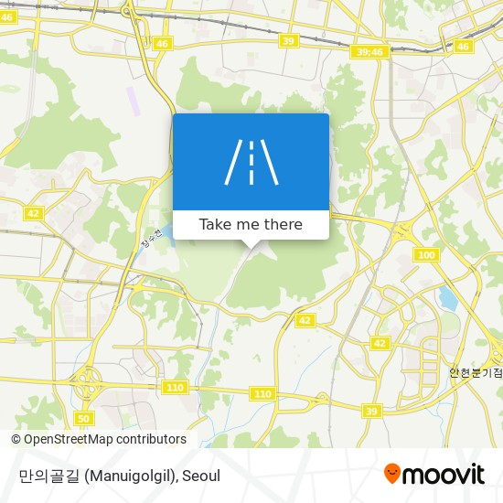 만의골길 (Manuigolgil)地图