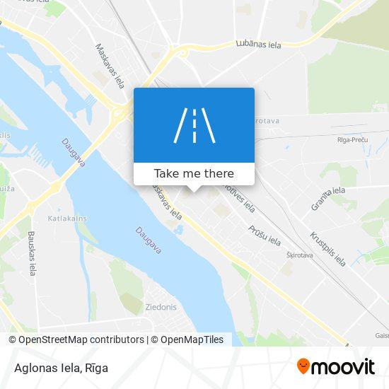 Aglonas Iela map