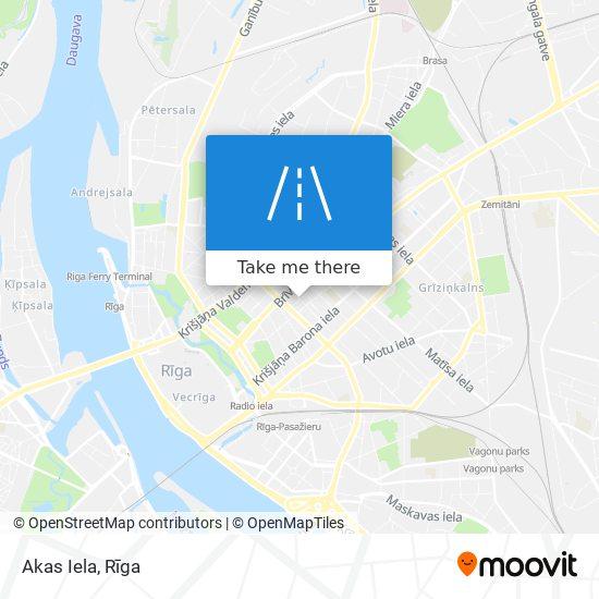 Akas Iela map