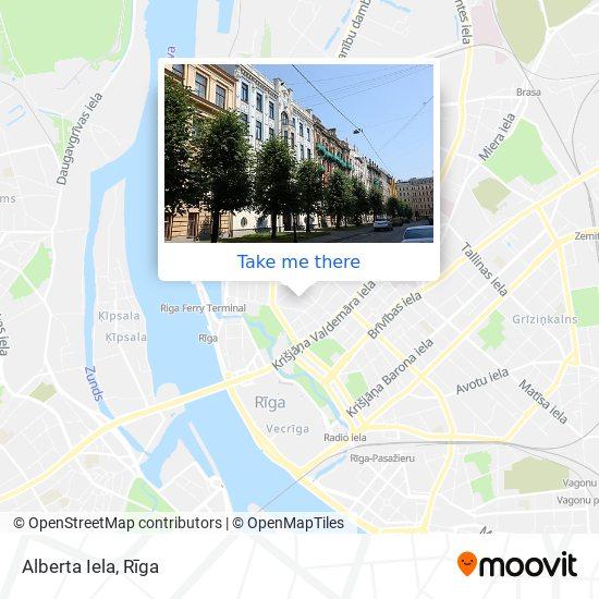 Alberta Iela map