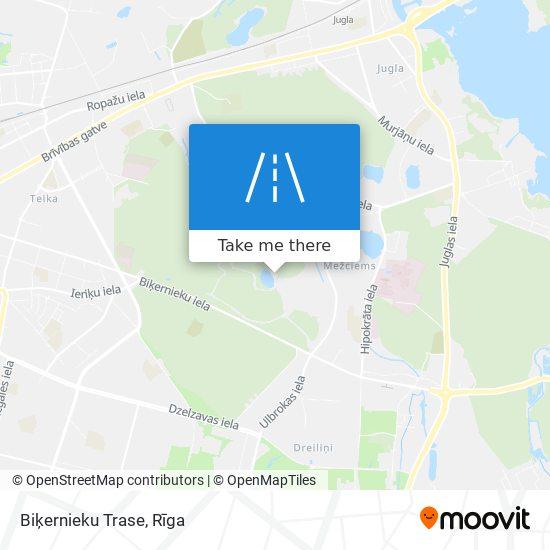 Biķernieku Trase map