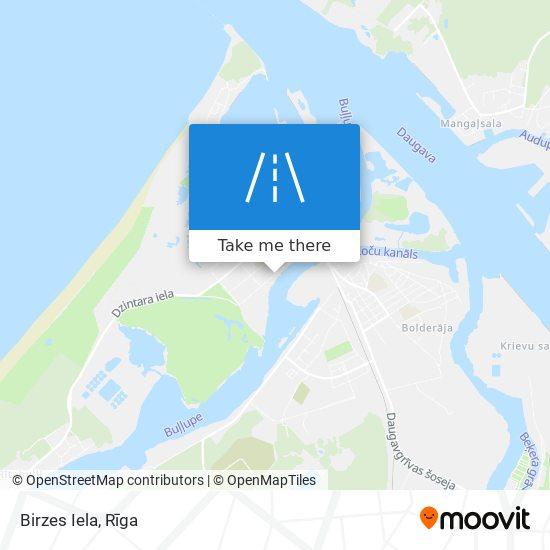 Birzes Iela map