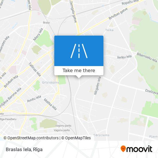 Braslas Iela map
