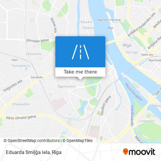 Eduarda Smiļģa Iela map