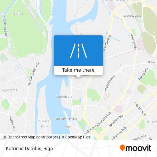 Katrīnas Dambis map