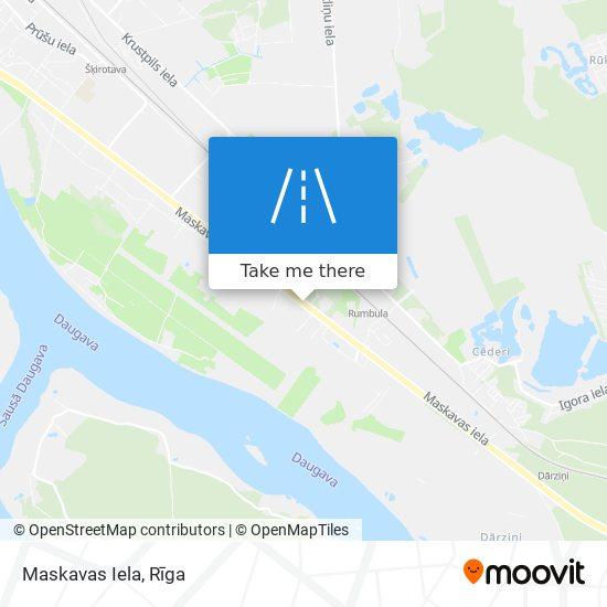 Карта Maskavas Iela