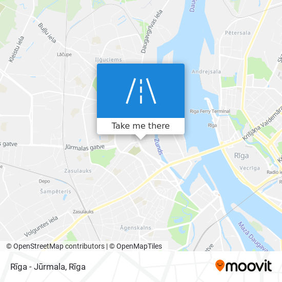 Rīga - Jūrmala map