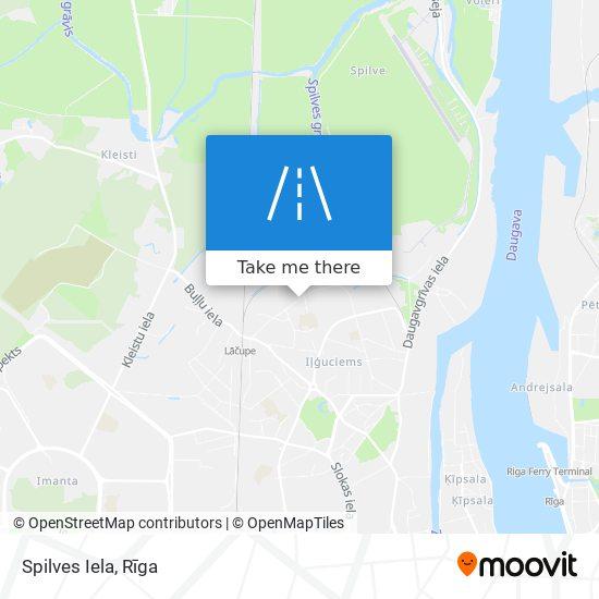 Spilves Iela map