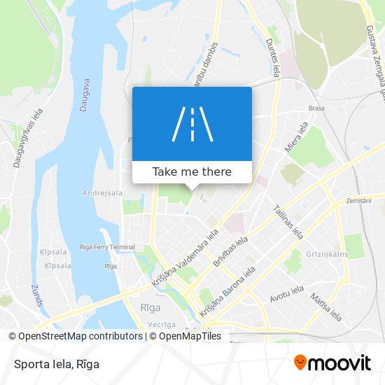 Sporta Iela map