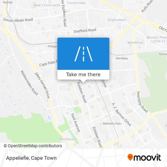 Appeliefie map