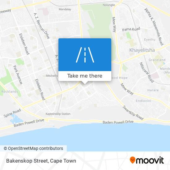Bakenskop Street map