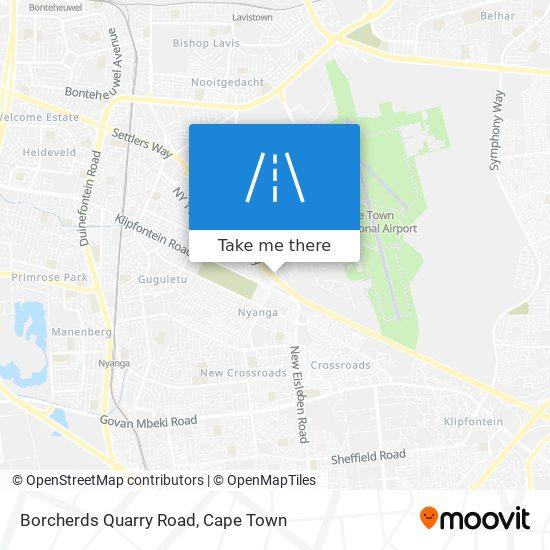 Borcherds Quarry Road map