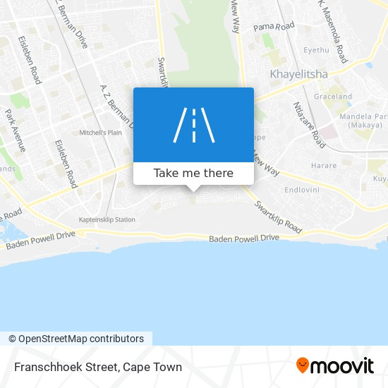 Franschhoek Street map