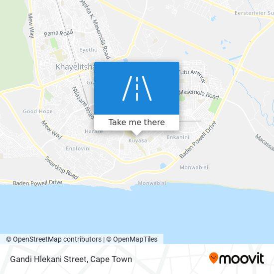 Gandi Hlekani Street map