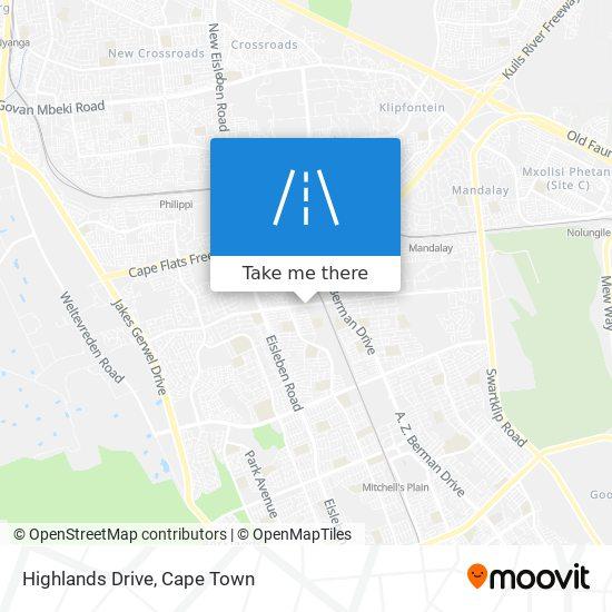 Highlands Drive map
