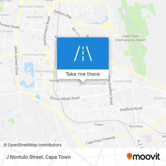J Nontulo Street map