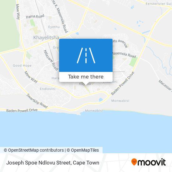 Joseph Spoe Ndlovu Street map