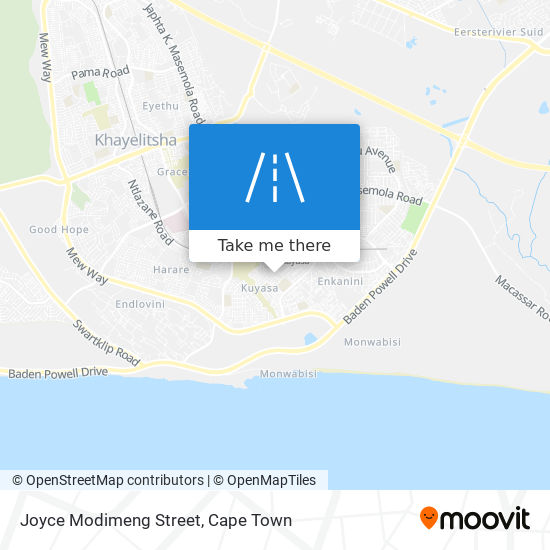 Joyce Modimeng Street map