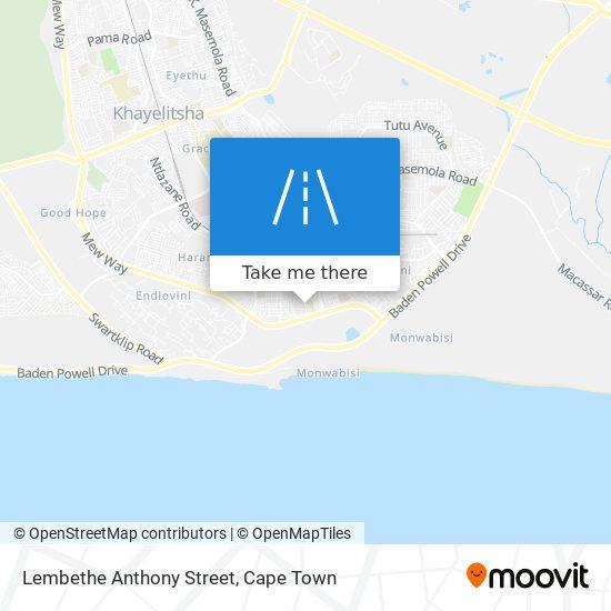 Lembethe Anthony Street map