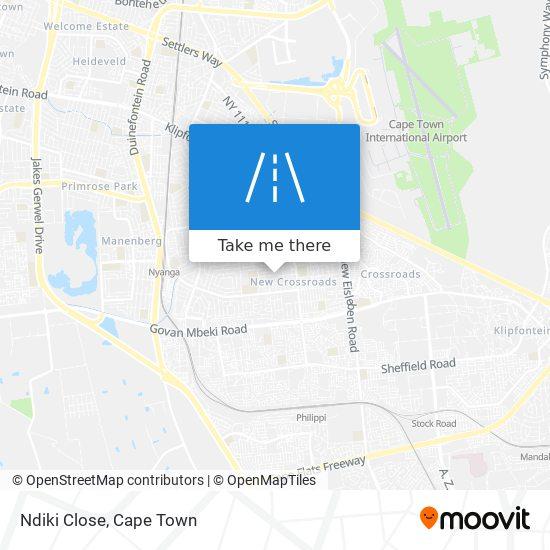 Ndiki Close map