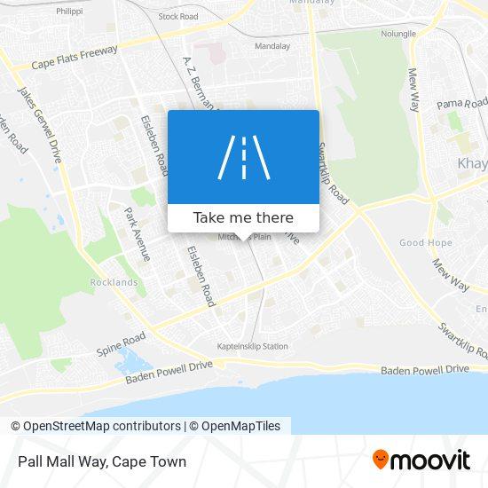 Pall Mall Way map