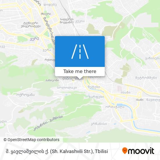 შ. ყავლაშვილის ქ. (Sh. Kalvashvili Str.) map