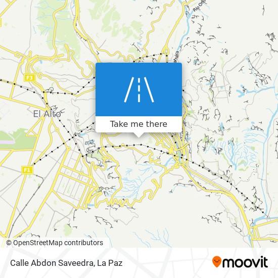Calle Abdon Saveedra map