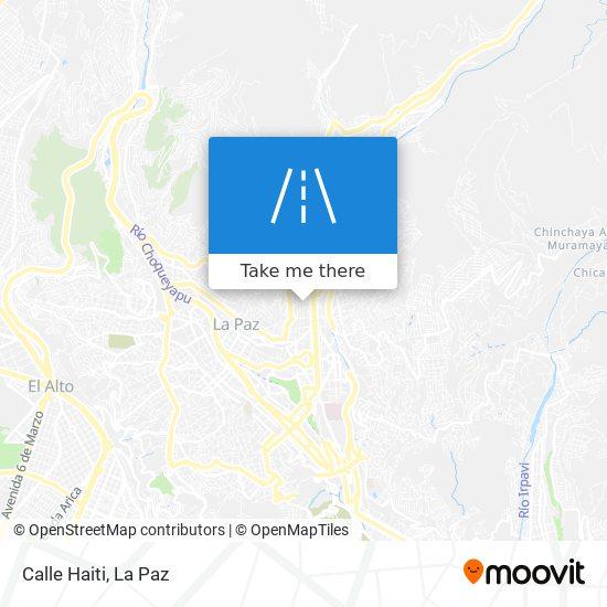 Calle Haiti map
