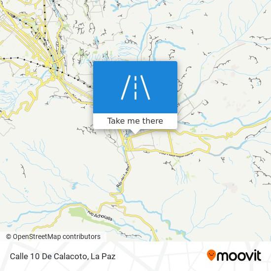 Calle 10 De Calacoto map