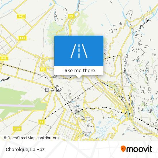 Chorolque map