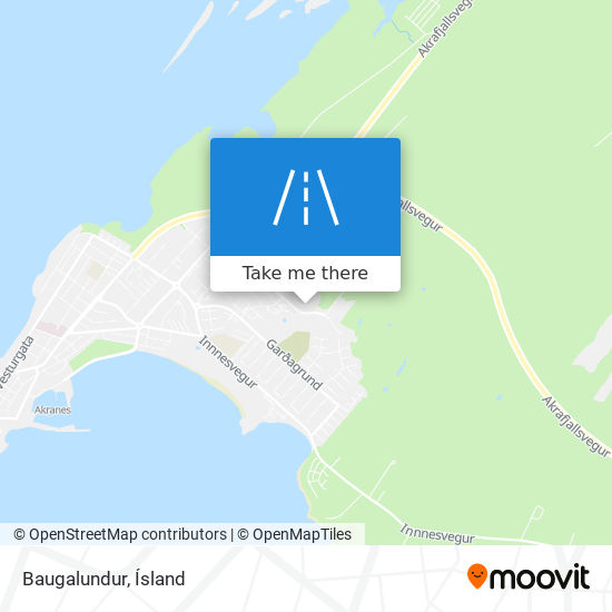 Baugalundur map