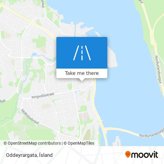 Oddeyrargata map