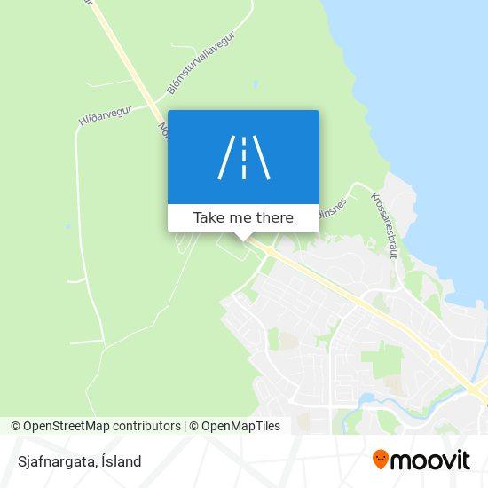 Sjafnargata map
