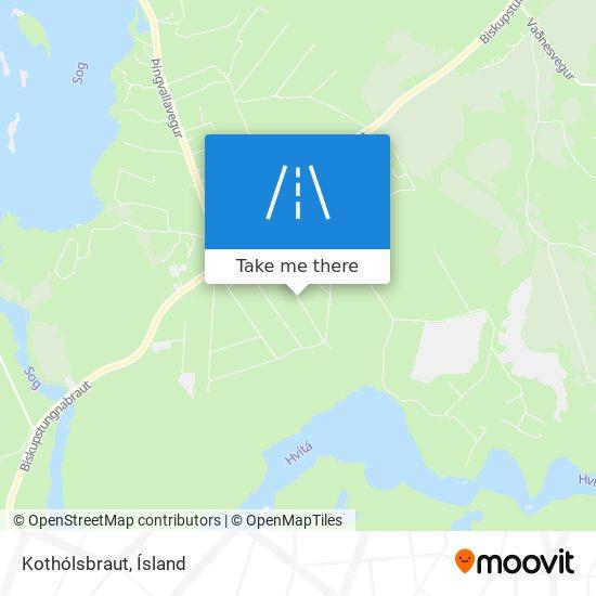 Kothólsbraut map