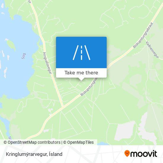 Kringlumýrarvegur map