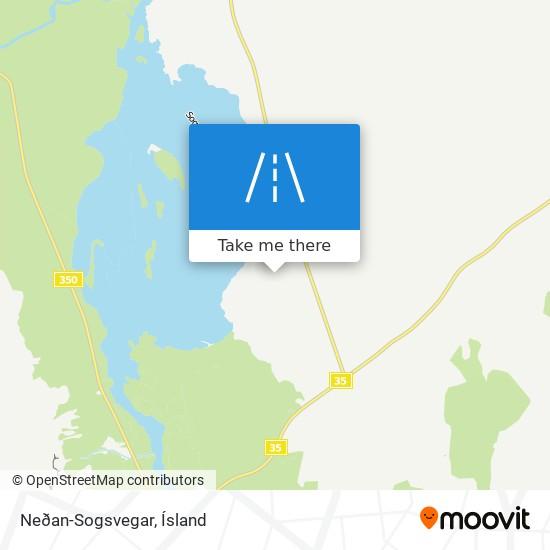 Neðan-Sogsvegar map