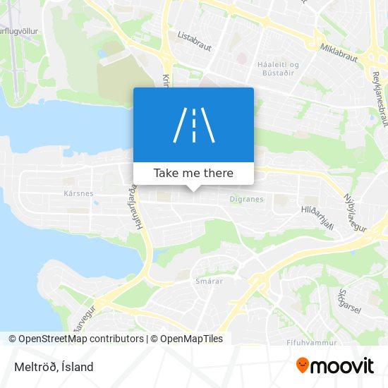 Meltröð map